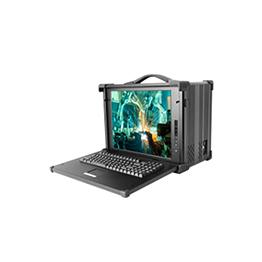 17寸8槽6U单屏便携机_下翻式工业便携机CPCI1700