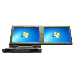 国产双屏14寸手提三防笔记本电脑_双屏幕银河麒麟系统加固型笔记本电脑
